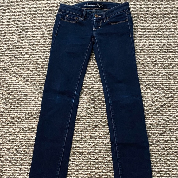 Dark blue stretch skinny jeans